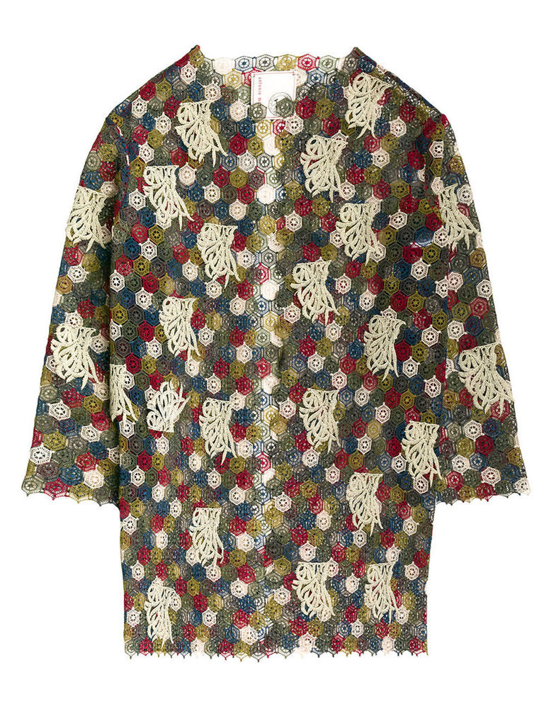 Antonio Marras embroidered oversized jacket - Multicolour