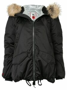 Kru fur hooded parka - Black