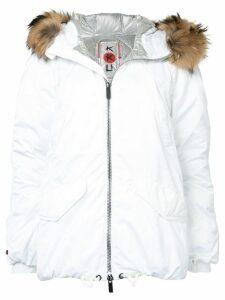 Kru fur hooded parka - White