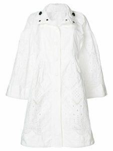 Ermanno Scervino open embroidery coat - White