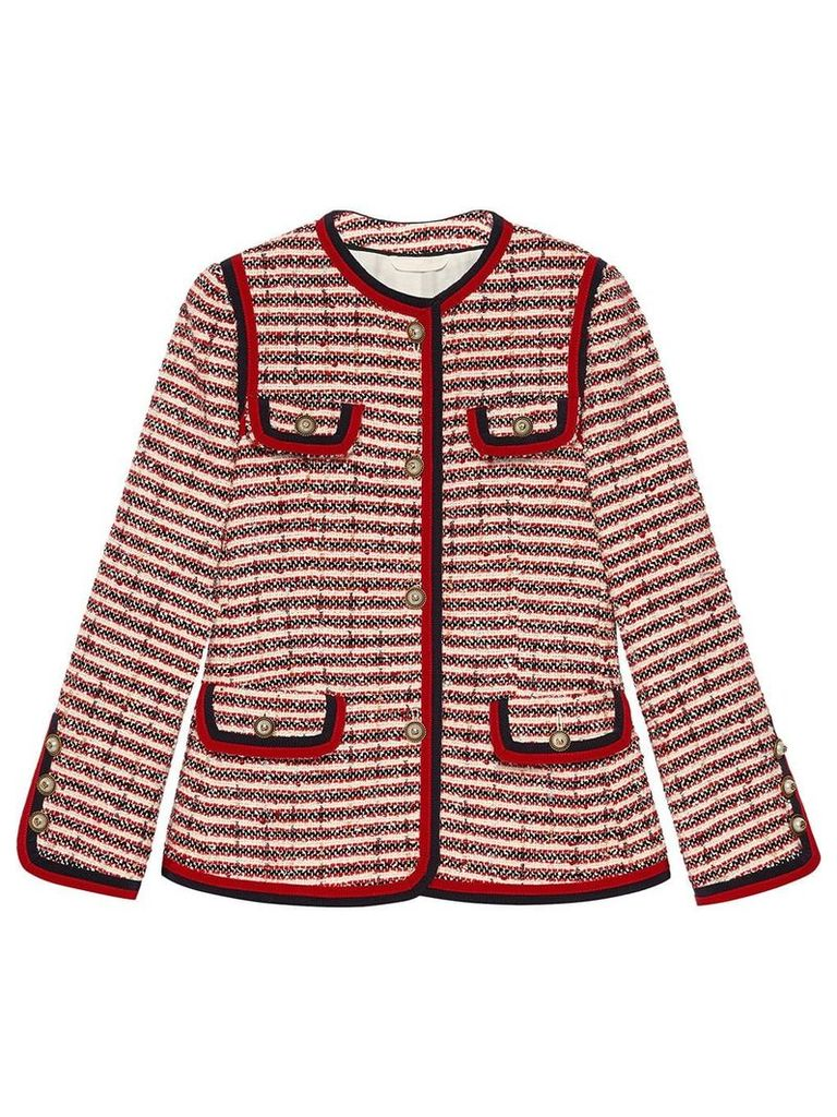 Gucci Striped tweed jacket - Red