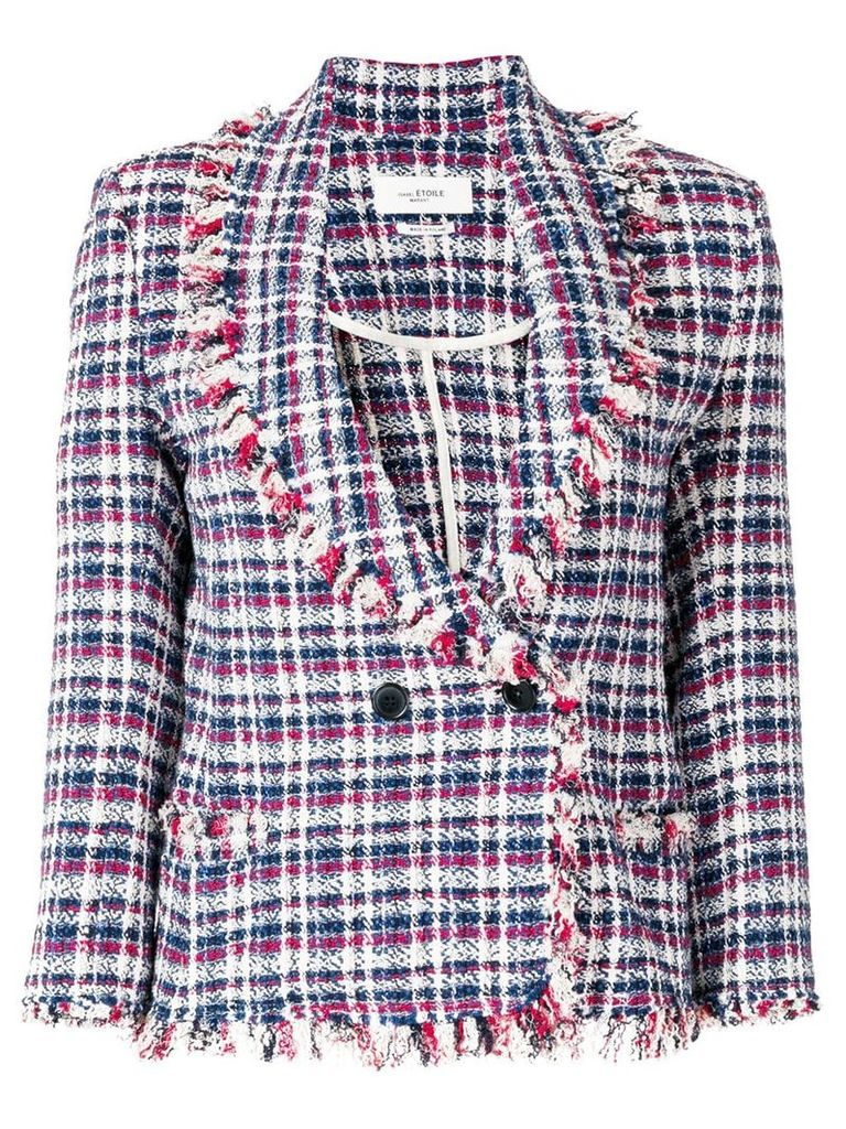 Isabel Marant Étoile frayed tweed jacket - Multicolour