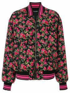 Dolce & Gabbana floral bomber jacket - Purple