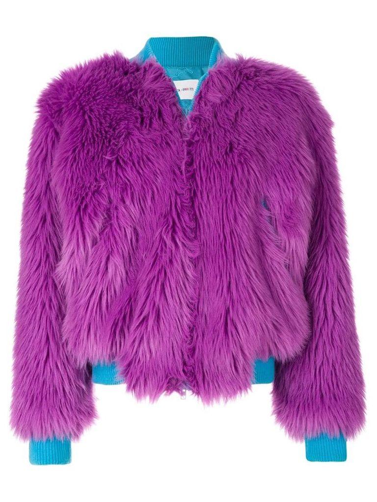 Alberta Ferretti faux fur bomber jacket - Pink