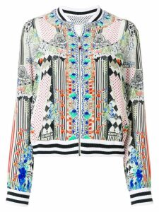 Camilla abstract print bomber jacket - Multicolour