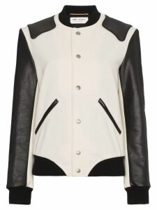Saint Laurent Heaven varsity jacket - White