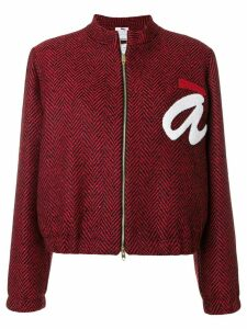 Ultràchic cropped logo jacket - Red