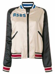 As65 colour-block bomber jacket - Neutrals