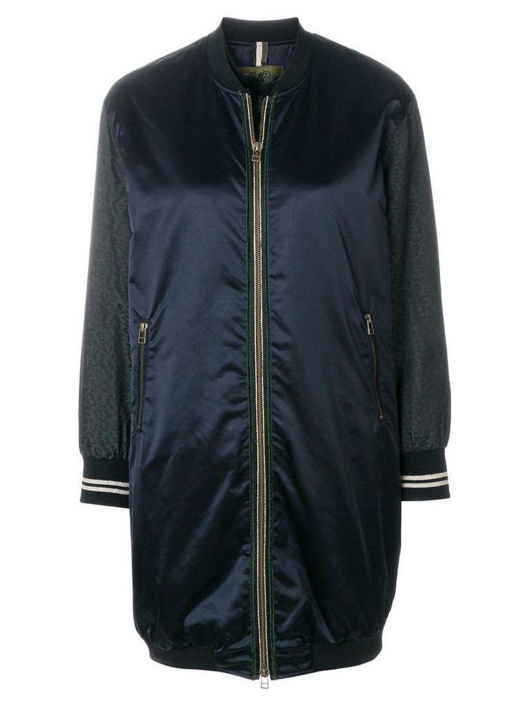 Alessandra Chamonix long panelled bomber jacket - Blue