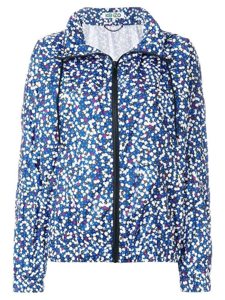 Kenzo floral print windbreaker - Blue