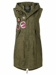 Mr & Mrs Italy patch detail midi gilet - Green