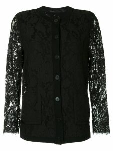 Onefifteen lace panel cardigan - Black