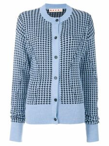 Marni houndstooth patterned cardigan - Blue