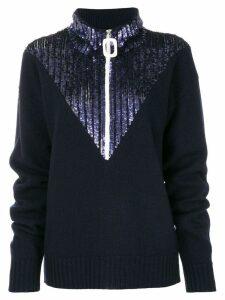 Aviù sequin embellished jumper - Blue