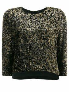 Lanvin metallic cropped jumper - Black