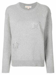 Michael Michael Kors embellished star sweatshirt - Grey
