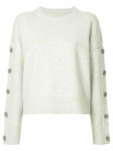 Nili Lotan button sleeves jumper - Grey
