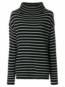 The Gigi striped roll neck jumper - Black