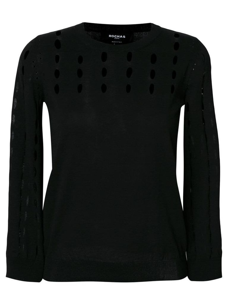 Rochas perforated jumper - Black
