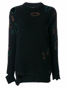 Ballantyne distressed holey sweater - Blue