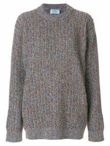 Prada oversized chunky knit sweater - Grey
