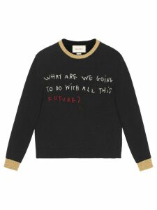 Gucci Coco Capitán embroidered sweater - Black