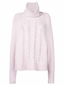 Ermanno Scervino turtle neck knitted jumper - Pink
