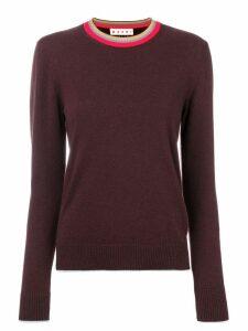 Marni stripe detail jumper - Pink