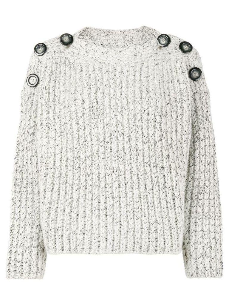 Isabel Marant Free button shoulder jumper - White