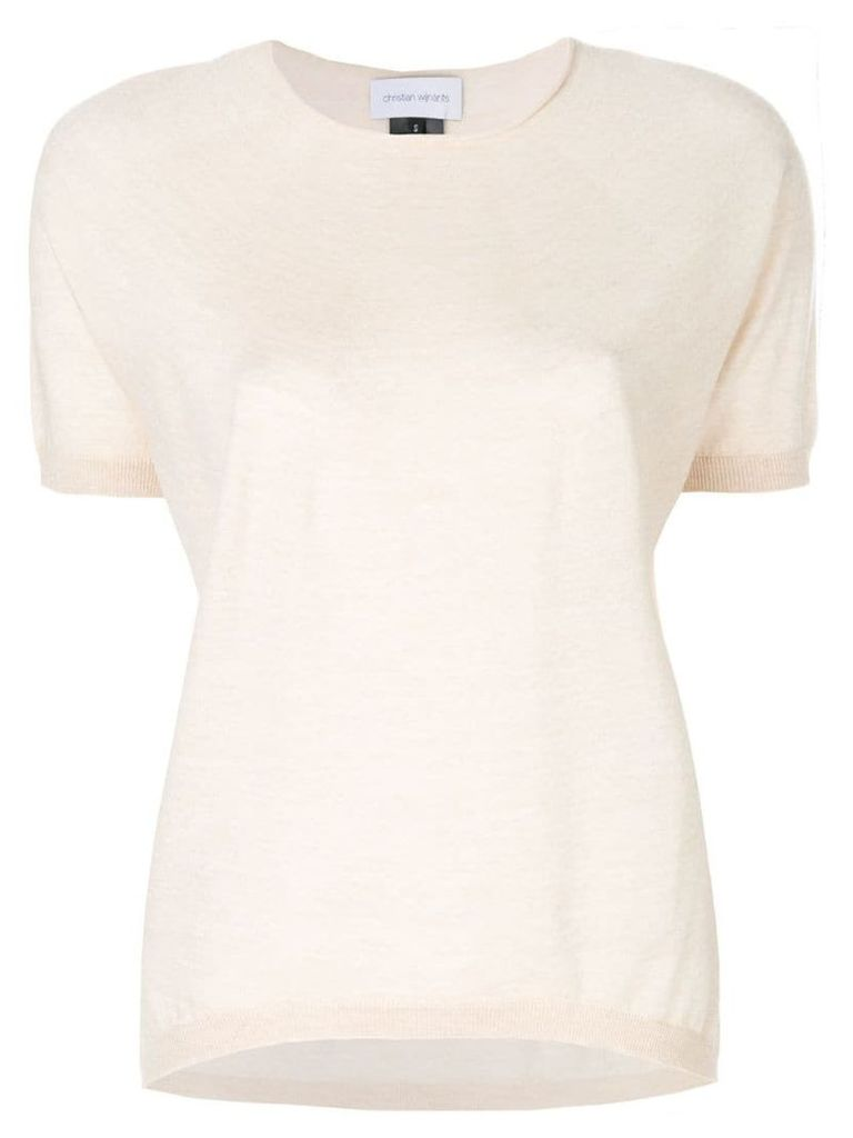 Christian Wijnants shortsleeved knitted top - Neutrals