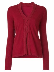 Onefifteen twist front knitted top - Red