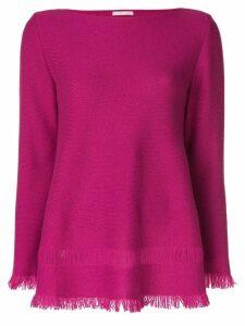 Borgo Asolo cashmere fringed hem sweater - Pink