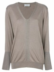 Snobby Sheep fitted v-neck sweater - Neutrals
