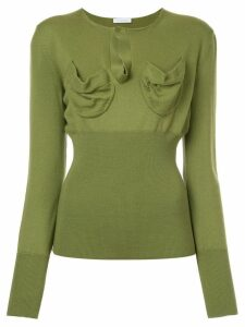 JW Anderson fitted knitted top - Green