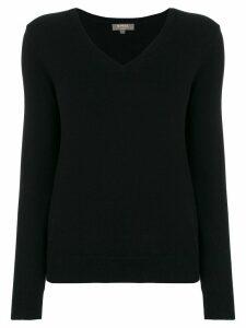 N.Peal cashmere V-neck jumper - Black