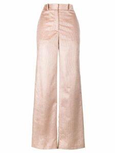Adam Lippes wide leg corduroy silk trousers - Pink