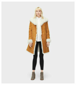 UGG Vanesa Toscana Shearling Coat Womens Outerwear Chestnut XS