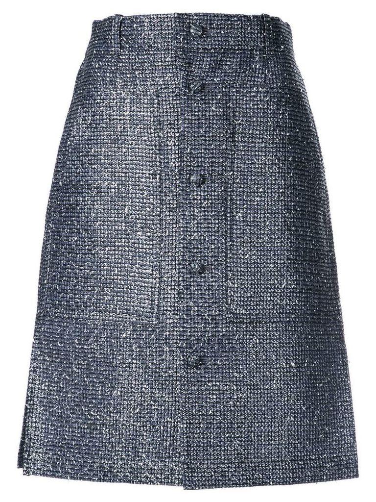 Julien David buttoned A-line skirt - Blue