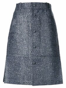 Julien David buttoned A-line skirt - Blue