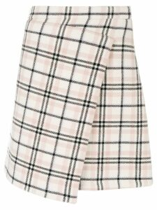 Carven checked wrap skirt - Neutrals