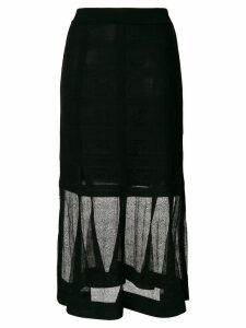 Alexander McQueen lace midi skirt - Black
