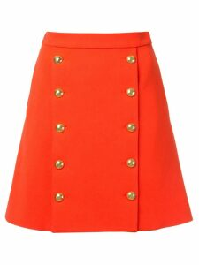 Macgraw buttoned front mini skirt - Red