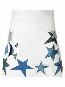 Manokhi star patch a-line skirt - White