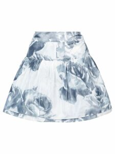 Marchesa rose print skirt - White