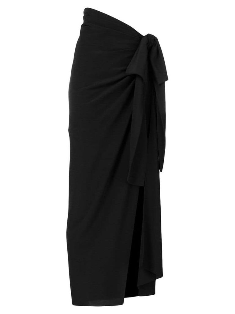 Saint Laurent asymmetric draped skirt - Black