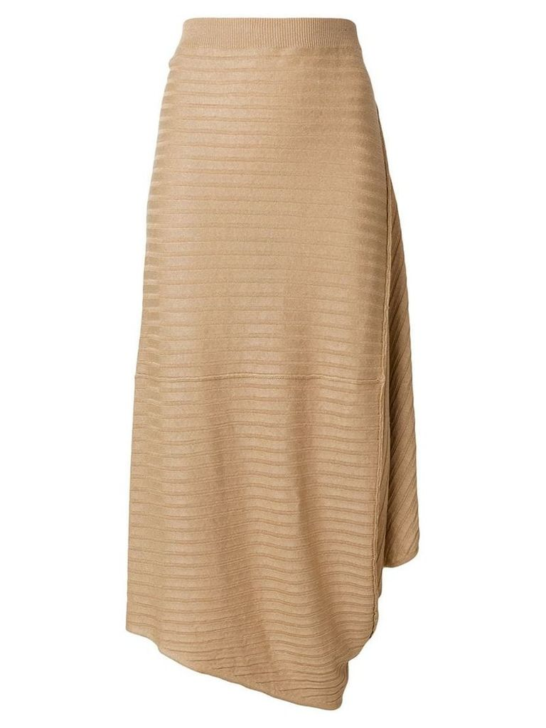 JW Anderson ribbed skirt - Neutrals
