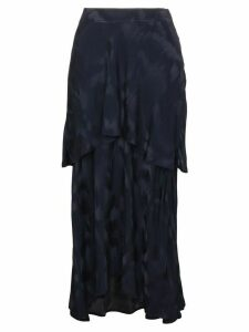 Sies Marjan Paris Layered Silk Blend Jacquard Skirt - Blue