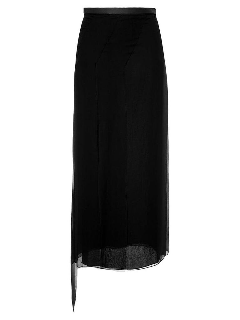 Loewe asymmetric skirt - Black