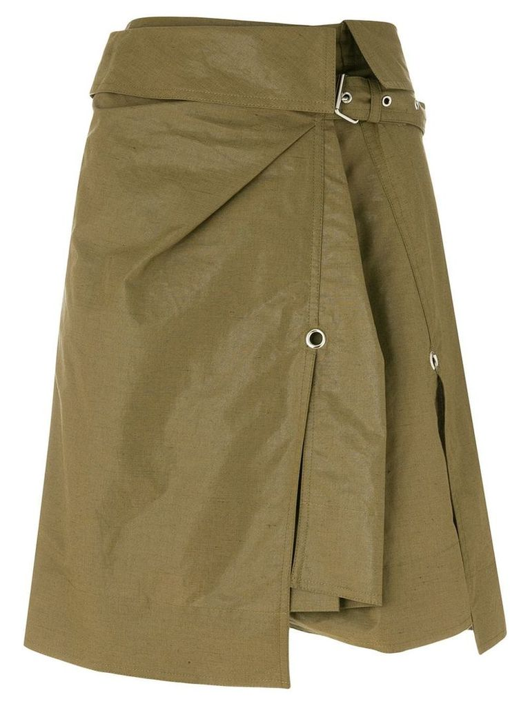 Isabel Marant asymmetric fitted skirt - Green
