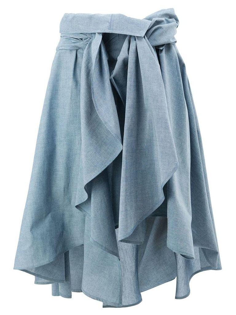 Faith Connexion draped skirt - Blue